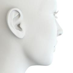 Menschliches Ohr einer Frau