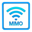 MIMO or multiple-input and multiple-output icon, 3d