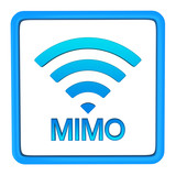 MIMO or multiple-input and multiple-output icon, 3d poster