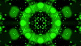 Kaleidoscope Green Looped