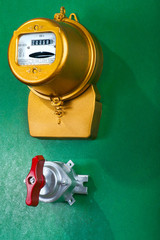 electric meter with toggle