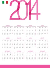 Calendario 2014 italiano
