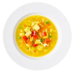Vegan Soup Overhead