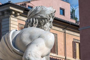 Roma, fontana dei Quattro Fiumi (part.)