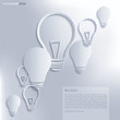 Light bulb Idea. Vector background.