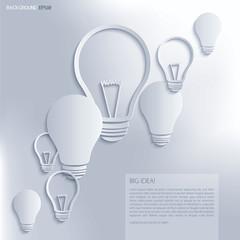 Light bulb Idea. Vector background.