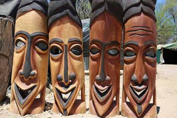 Afrikanische Masken in Okahandja. Namibia