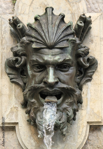 Human head fountain, Geneva, Switzerland