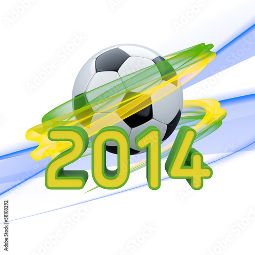 Brasil 2014 World Cup - 3D Illustration / Grafik