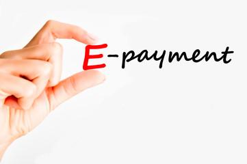 e-payment concept