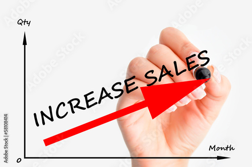 Increase sales graph
