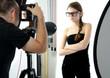 Amateurmodell im Studio