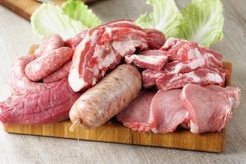 Misto carne cruda di maiale