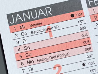 Neues Jahr - Neujahr - Januar