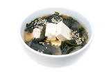 Japanese seaweed soup and cheese toffee