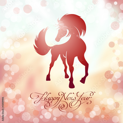red horse the symbol of new year