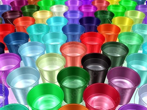 Plastikeimer - sauberes Trinkwasser