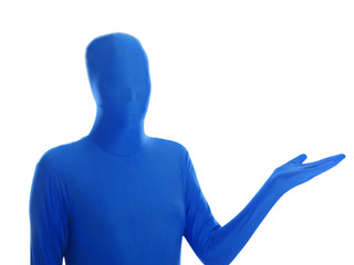 blauer mensch