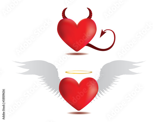Good and evil hearts