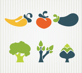 vector collection of vegetables in infographic style