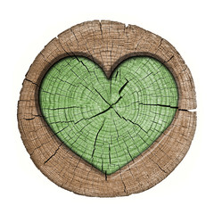 heart symbol on the wooden panel