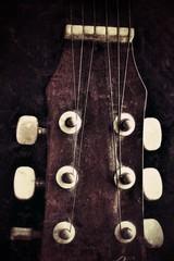 closeup of guitar