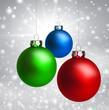 Drei Bunte Weihnachtskugeln