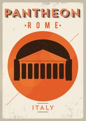 Vintage Pantheon Poster