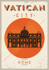 Vintage Vatican City Poster