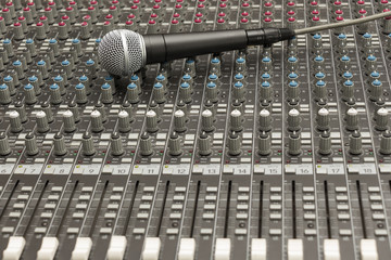 Studio Mixer and Microphone