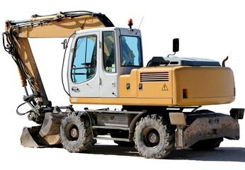 Pelleteuse excavatrice sur roues