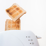 Toast ejected from the toaster