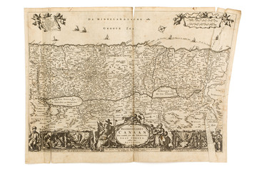 Antique Map - Old Dutch - Canaan