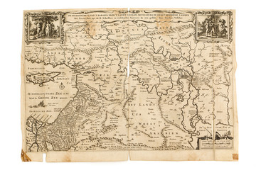 Antique Map - Old Dutch - Paradise, Canaan