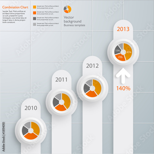 Infographics Vector Background Combination Chart