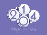 new year 2014 background. Vector illustration