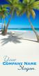 Siesta on tropical beach