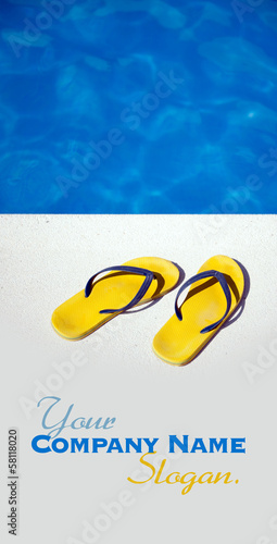 Sandals by the pool