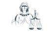 Justice simbol Illustrated - 58119247