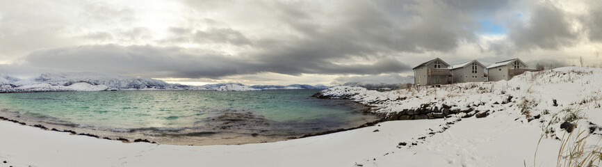 Norwegian landscape.Sommaroy,Northern Norway.