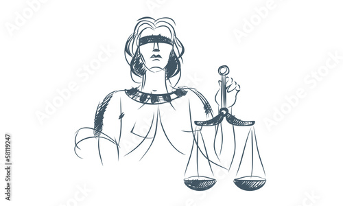 Justice simbol Illustrated