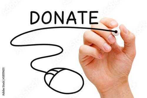 Online Donation Concept