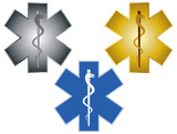 Star of Life Rod of Asclepius Illustration