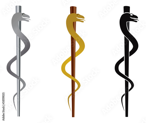 Rod of Asclepius Vector Illustration