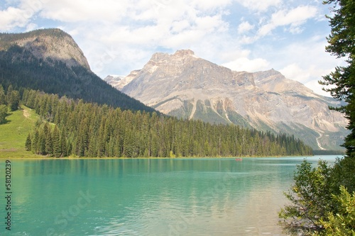 Emerald Lake and Canoe