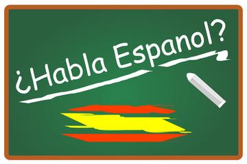 Habla espanol Spanisch Tafel  #131108-svg02