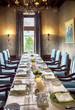 luxury salon with big table