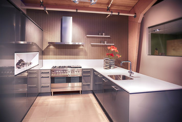 detail of modern kitchen