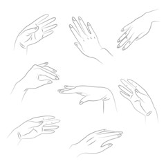 outlines of hands