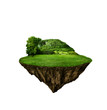 beautiful island with green field